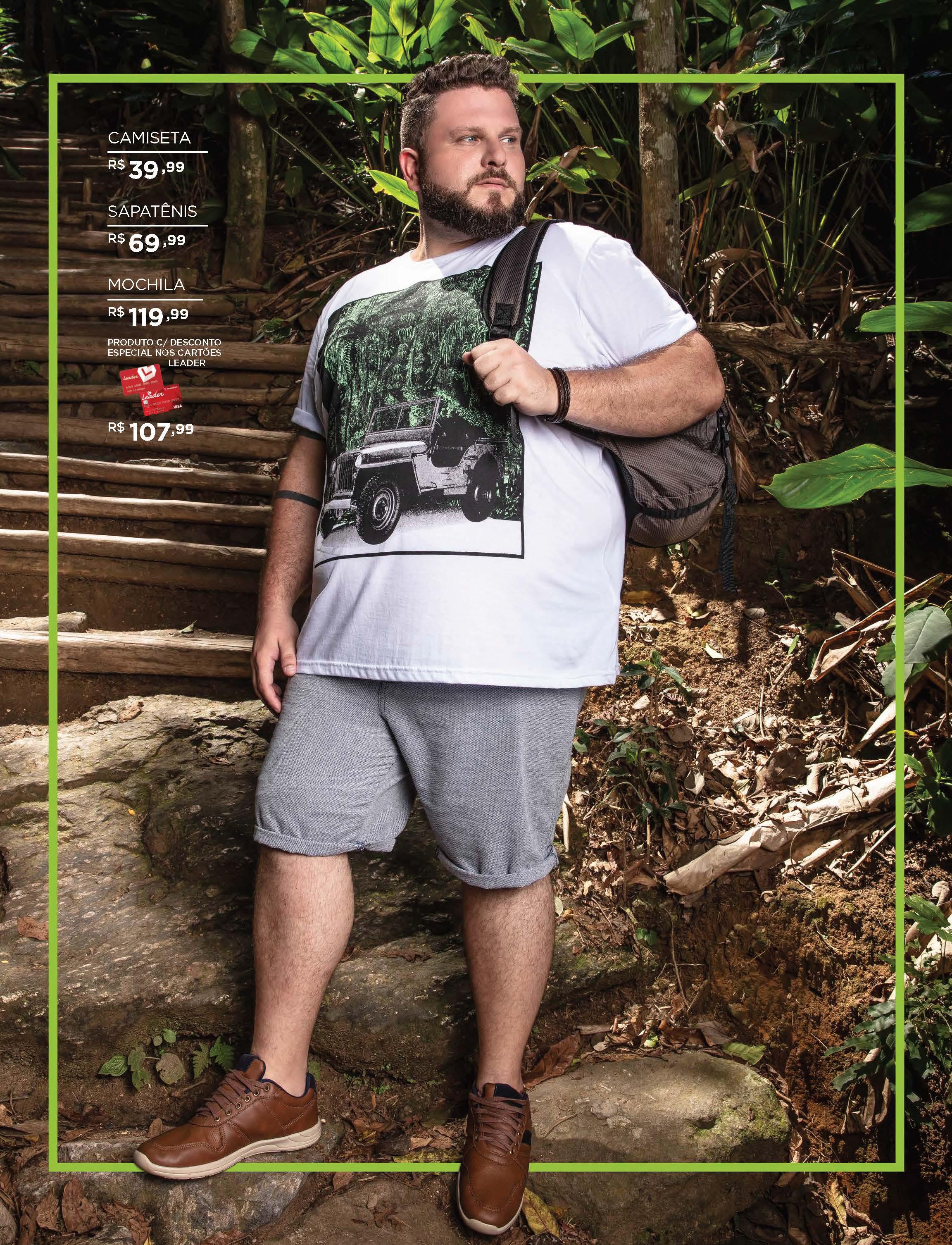 Plus Size masculino Leader